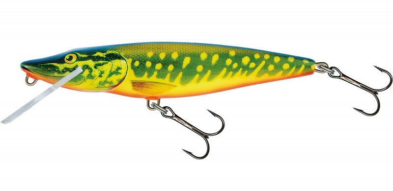 Wobler Pike Floating PE11F 11cm Hot Pike