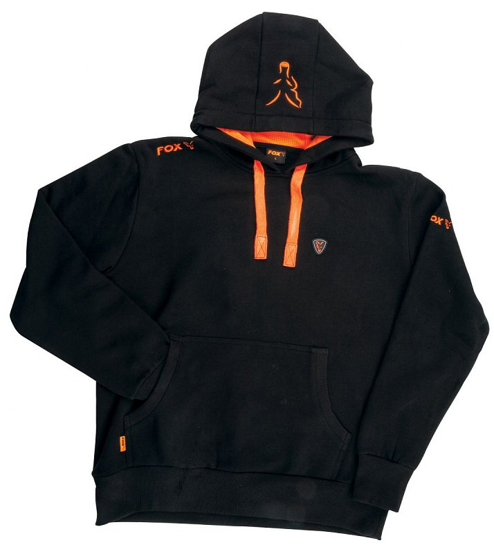 Mikina Hoody Black/Orange