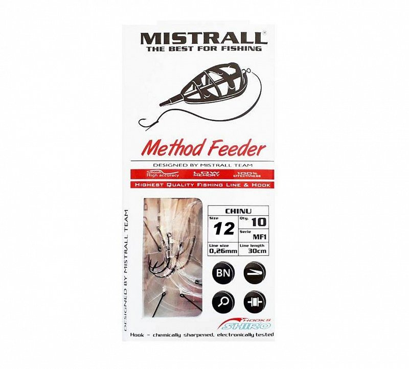 Mistrall Nadväzec s tŕňom Method Feeder 30cm 10ks