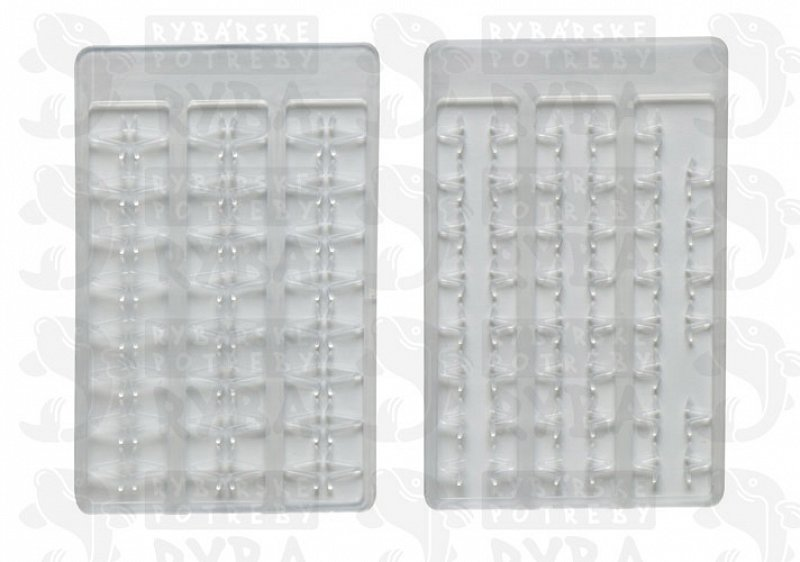 Boilie stoppers V medium (clear) 48pcs rack