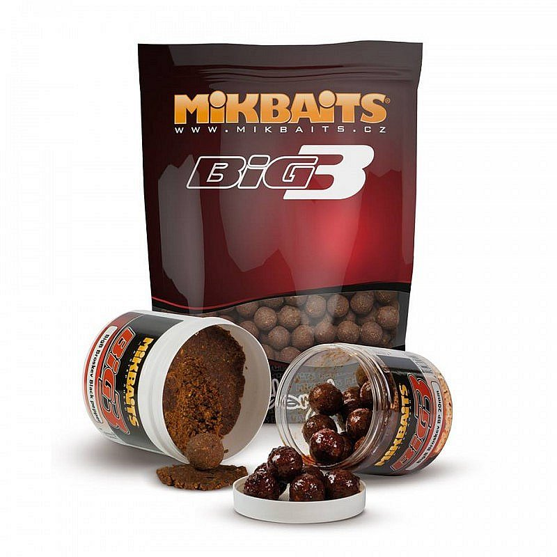 Mikbaits BigB Broskyňa/BlackPepper