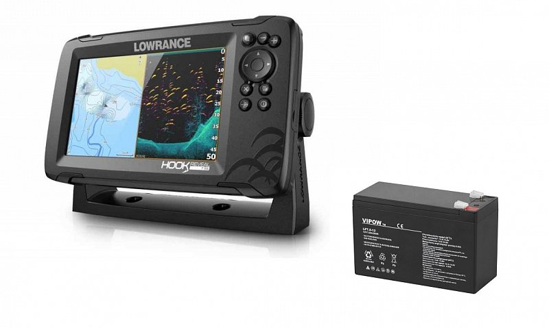 Lowrance Sonar Hook Reveal 7 83/200 HDI ROW + akumulátor