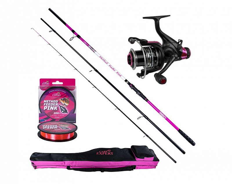 Carp Expert Set Udica Method Feeder Pink + navijak + obal
