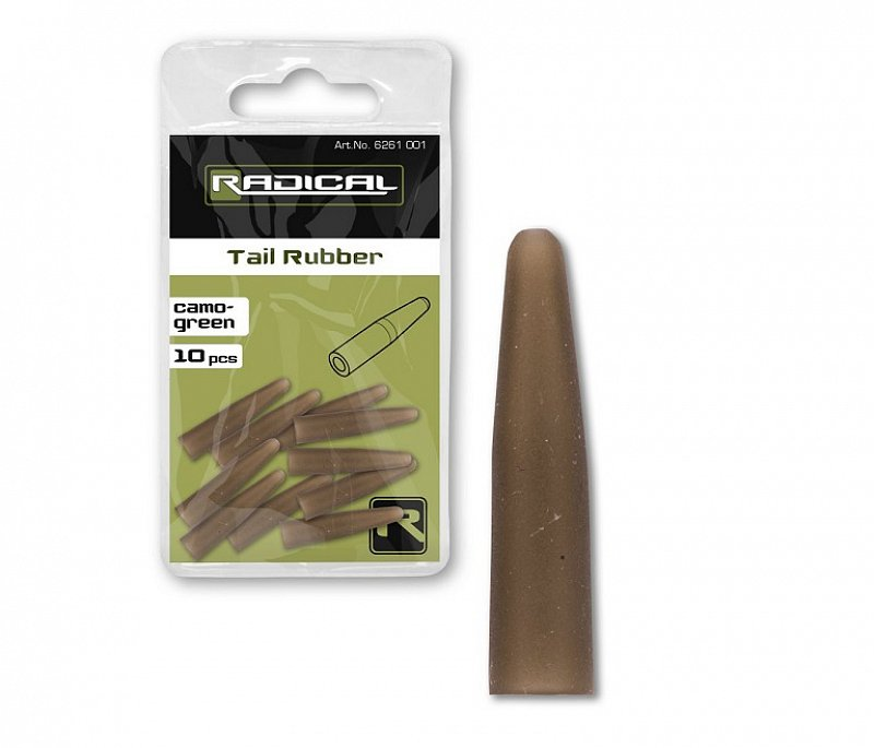 Radical Prevlek Tail Rubber Camo Green 10ks