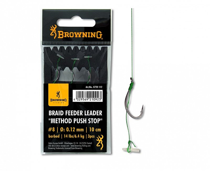 Browning Nadväzec Method Leader Pellet Push Stop 10cm