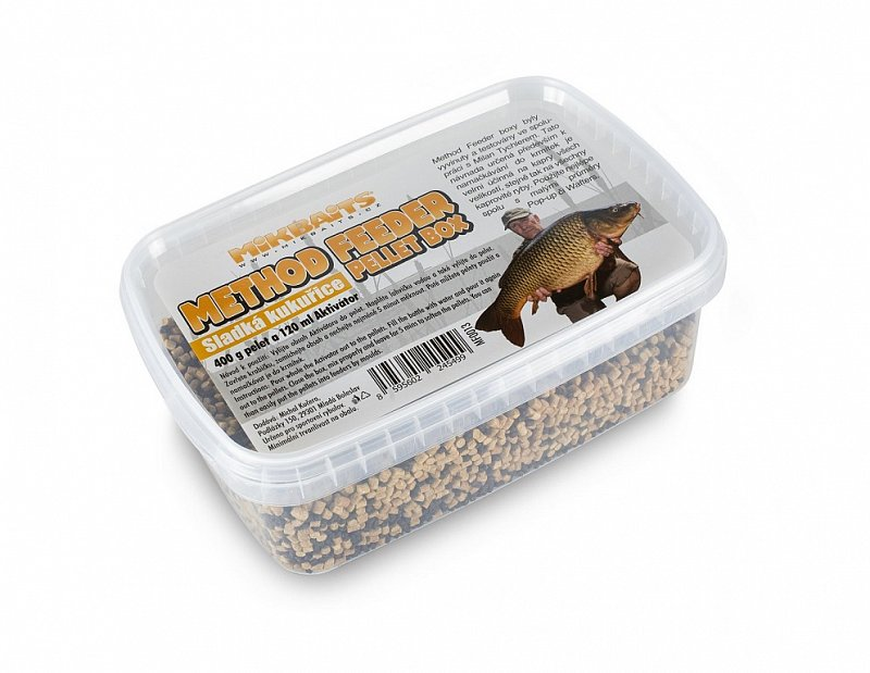 Mikbaits Pelety Method Feeder Pellet Box 400g + Activator