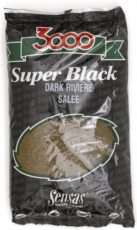 SENSAS Krmivo 3000 Super Black Dark Riviere Salee 1kg