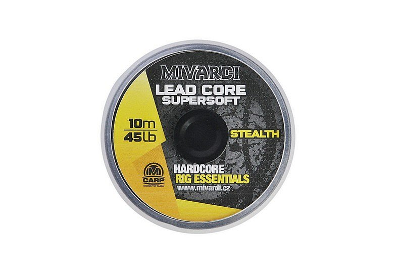 Mivardi Šnúrka Lead Core Super Soft Stealth 45lb