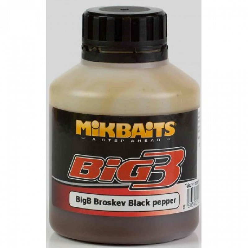 Mikbaits Booster Big B Broskyňa / Black Pepper 250ml